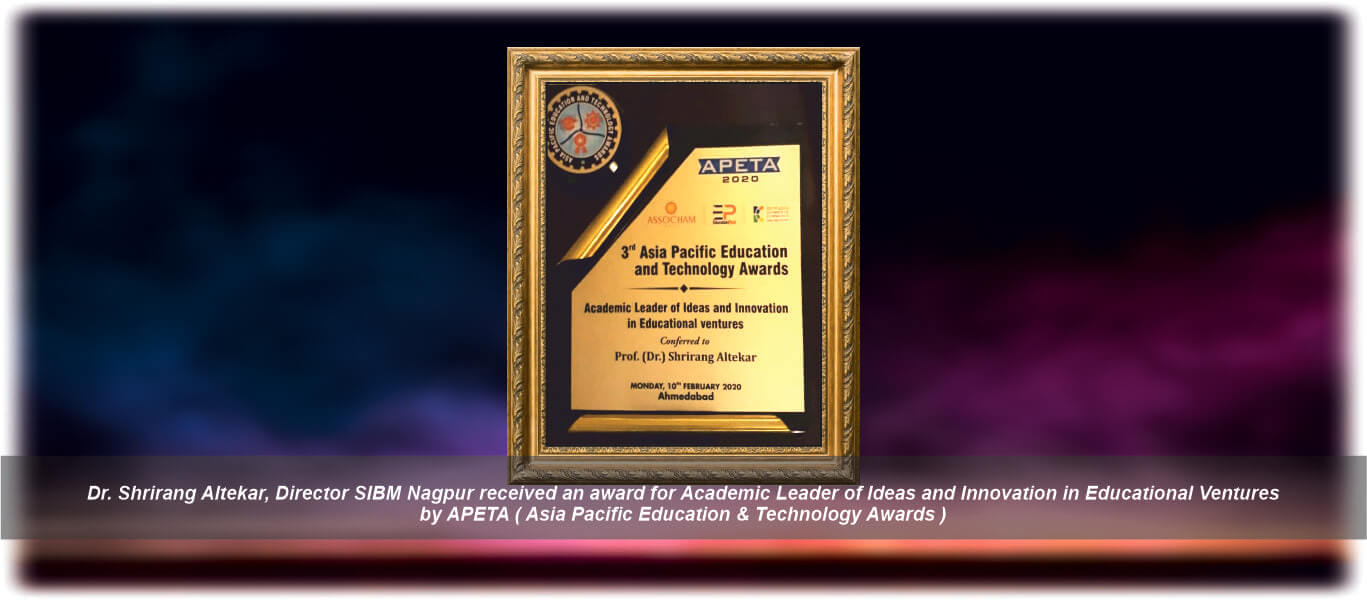 APETA Award | MBA in Human Resource Management Nagpur